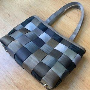 HARVEY's Original Seatbelt Tote Handbag Gray Tone